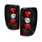 2005 Chevy Suburban Barn Door Black Altezza Tail Lights