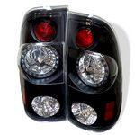 2002 Ford F250 Super Duty Black LED Tail Lights