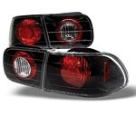 1993 Honda Civic JDM Black Altezza Tail Lights