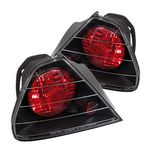 Honda Accord Coupe 1998-2000 JDM Black Altezza Tail Lights
