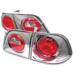 2000 Honda Civic Sedan Clear Altezza Tail Lights