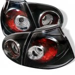 VW Rabbit 2006-2009 Black Altezza Tail Lights