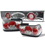 1993 Toyota Corolla Clear Altezza Tail Lights with Trunk Light