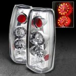1997 GMC Yukon Clear LED Tail Lights