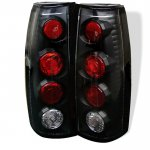 1997 Chevy Silverado Black Altezza Tail Lights