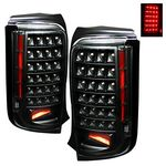Scion xB 2008-2009 Black LED Tail Lights