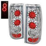 1999 Chevy Silverado Chrome Ring LED Tail Lights