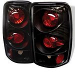 2005 Chevy Suburban Black Altezza Tail Lights
