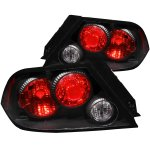 Mitsubishi Lancer 2002-2003 Black Custom Tail Lights