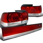 Toyota Corolla 1993-1997 Tail Lights and Trunk Light Red and Clear