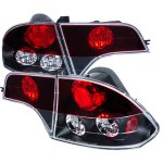 Honda Civic Sedan 2006-2010 JDM Black Altezza Tail Lights