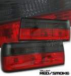 1991 BMW E30 3 Series Red and Smoked Euro Tail Lights
