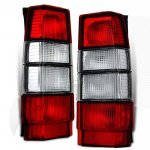 Volvo 745 Wagon 1985-1985 Red and Clear Euro Tail Lights