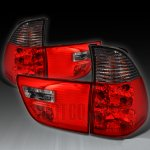 BMW X5 2000-2006 Red and Smoked Euro Tail Lights