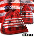 Mercedes Benz C Class 1995-2000 Red and Clear Euro Tail Lights