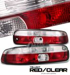 Lexus SC400 1995-1999 Red and Clear Euro Tail Lights