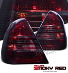1995 Mercedes Benz C Class Red and Smoked Euro Tail Lights