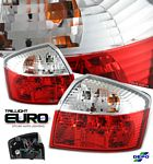 2004 Audi A4 Depo Red and Clear Euro Tail Lights