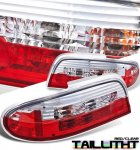 Nissan Altima 1993-1997 Red and Clear Tail Lights