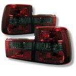 1990 BMW E34 5 Series Red and Smoked Euro Tail Lights
