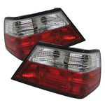 1995 Mercedes Benz E Class Red and Clear Euro Tail Lights