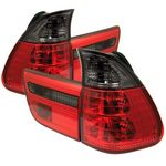 BMW X5 2000-2005 Red and Smoked Euro Tail Lights