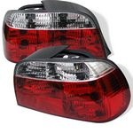 1996 BMW E38 7 Series Red and Clear Euro Tail Lights