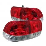 Honda Civic Sedan 1996-1998 Red and Clear Euro Tail Lights