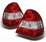 1995 Mercedes Benz C Class Red and Clear Euro Tail Lights