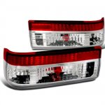 Toyota Corolla AE86 1983-1987 Red and Clear Euro Tail Lights