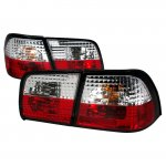 Nissan Maxima 1995-1996 Red and Clear Euro Tail Lights