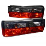 BMW 3 Series 1982-1987 Red and Smoked Euro Tail Lights