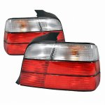 1996 BMW 3 Series Sedan Tail Lights Red and Clear