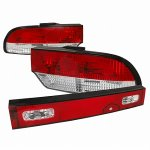 Nissan 240SX Hatchback 1989-1994 Tail Lights and Trunk Light Red and Clear