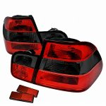 BMW 3 Series Sedan 1999-2001 Euro Tail Lights Red and Smoked