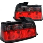 BMW 3 Series Sedan 1992-1998 Euro Tail Lights Red and Smoked