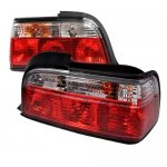 1996 BMW 3 Series Coupe Euro Tail Lights Red and Clear