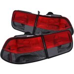 Honda Civic Coupe 1996-2000 Smoked Crystal Tail Lights