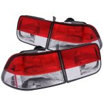 2000 Honda Civic Coupe Crystal Tail Lights