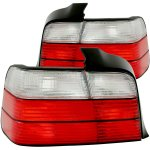 BMW 3 Series Sedan 1992-1998 Red and Clear Euro Tail Lights