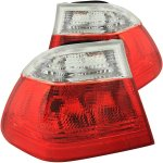 2001 BMW 3 Series Sedan Red and Clear Euro Tail Lights