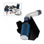 1998 Chevy 1500 Pickup V8 Cold Air Intake with Heat Shield and Blue Filter