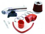 2003 Mitsubishi Eclipse Polished Short Ram Intake with Red Air Filter