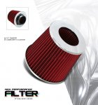 Universal Red 3 inches High Flow Replacement Air Filter