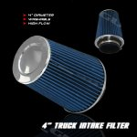 Universal Blue 4 inches High Flow Replacement Air Filter
