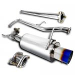 2001 Honda Accord Cat Back Exhaust System with Titanium Tip