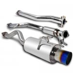 Honda Civic Si Coupe 2006-2009 Cat Back Exhaust System with Titanium Tip