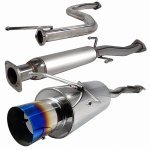 Honda Civic 1992-1995 Cat Back Exhaust System with Titanium Tip