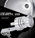 Turbo Muffler Exhaust Sound Whistler Silver