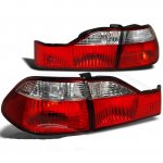 1999 Honda Accord Sedan Red and Clear Euro Tail Lights